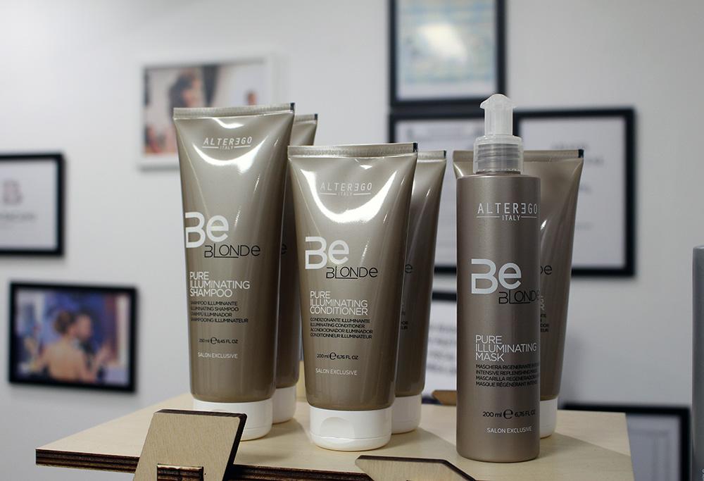BE BLONDE, un produs inovator dedicat parului blond, decolorat, suvitat sau vopsit, fiind imbogatit cu Hydra Hair si Complex Activ de stralucire.